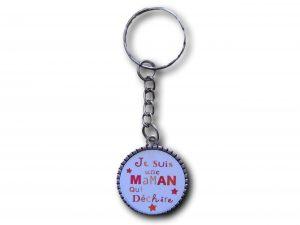 porte clés je suis une maman qui déchire douze