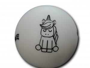 veilleuse silhouette boule licorne vue de face