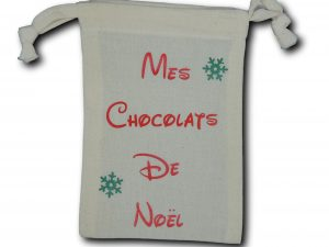 mini sac chocolats rouge