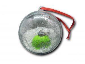 boule fimo boule de noël vert