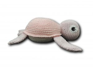amigurumi tortue rose vue de face