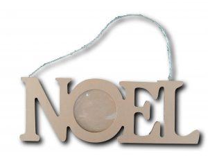 décoration en bois cadre photo doré noël