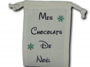 mini sac chocolats noir