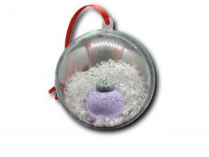 boule fimo boule de noël violet