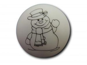 veilleuse boule bonhomme de neige