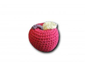 pomme rouge vue de face